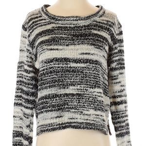 H&M space dyed marble knit pullover sweater